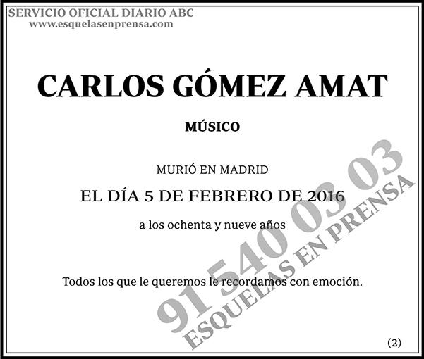 Carlos Gómez Amat